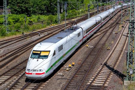 ICE 1 high-speed train at Kiel main station