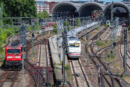 main station in Kiel, Germany Editorial