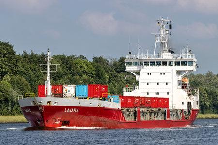 general cargo vessel LAURA in the Kiel Canal