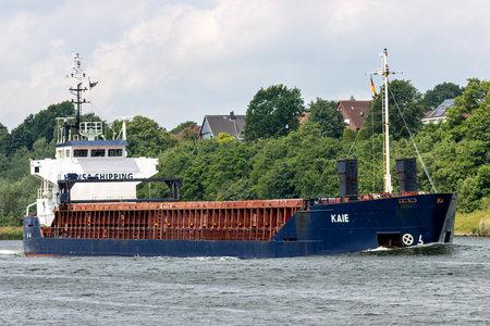 Hansa Shipping general cargo vessel KAIE in the Kiel Canal