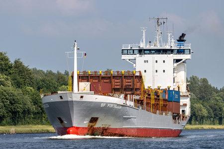 container ship BF FORTALEZA in the Kiel Canal
