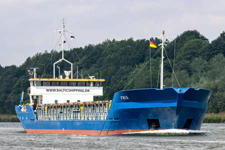 Baltic Shipping general cargo vessel FRIA in the Kiel Canal