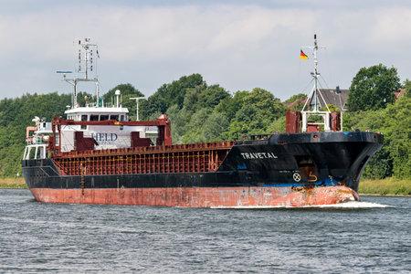 general cargo vessel TRAVETAL in the Kiel Canal