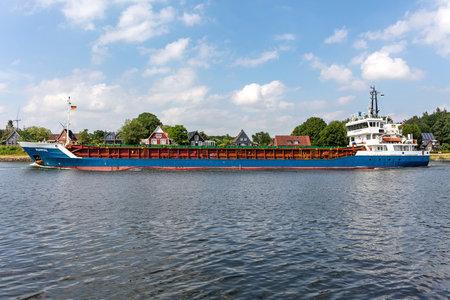 general cargo vessel RUHRTAL in the Kiel Canal