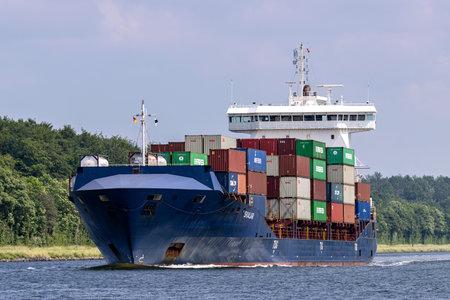 container ship SKALAR in the Kiel Canal