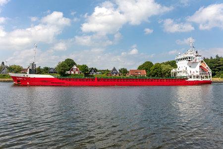 general cargo vessel ELENA L in the Kiel Canal Editorial