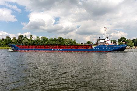 general cargo vessel GERMANICA HAV in the Kiel Canal Editorial
