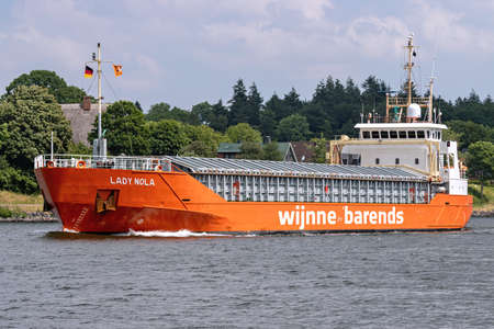 Wijnne Barends general cargo ship LADY NOLA in the Kiel Canal Editorial