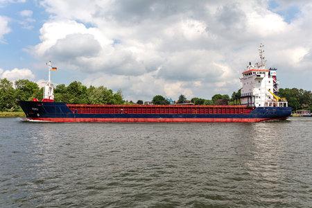 Hansa Shipping general cargo vessel KERLI in the Kiel Canal