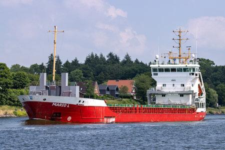 general cargo vessel MARIO L in the Kiel Canal