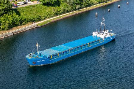 general cargo vessel HAITHABU in the Kiel Canal