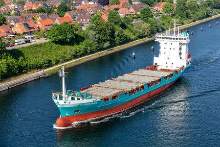 container ship DORNBUSCH in the Kiel Canal Editorial