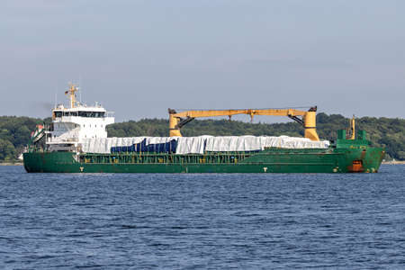 general cargo vessel in the Kiel Fjord