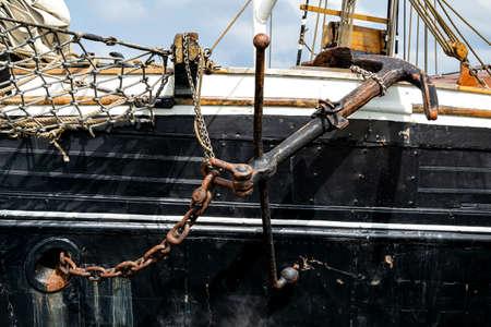 anchor of a tall ship