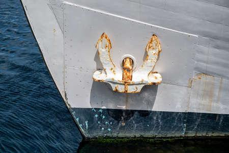 anchor of an oceangoing ship