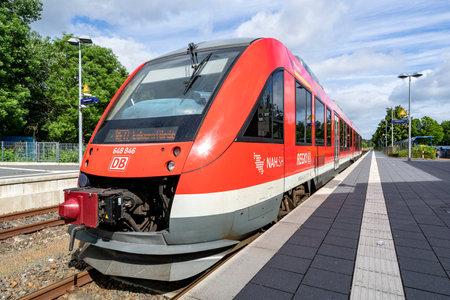 DB Regio Alstom Coradia LINT 41 train at Eckernförde station
