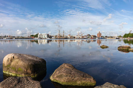 the touristic attractive city of Eckernförde in Schleswig-Holstein, Germany, seen from the Borby district Editorial