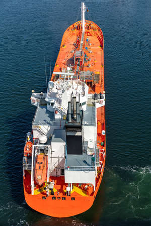 chemical tanker in the Kiel Canal Editorial