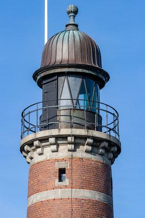 Holtenau Lighthouse in Kiel, Germany Editorial