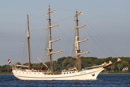 three-masted barque ARTEMIS in the Kiel Fjord