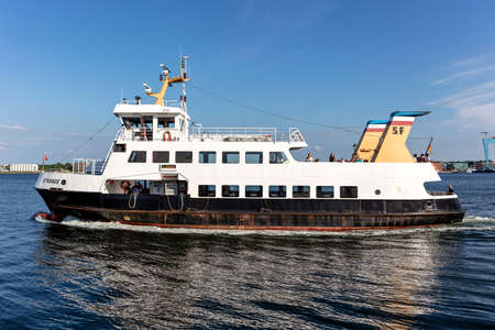 SFK passenger ship STRANDE in the Kiel Fjord Editorial