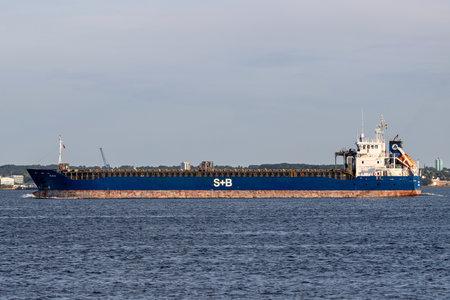 general cargo vessel BLIDOE in the Kiel Fjord Editorial