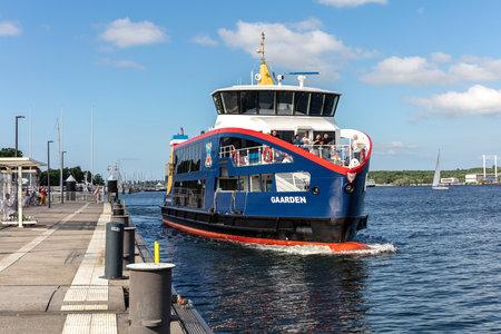 SFK passenger ship GAARDEN in the Kiel Fjord