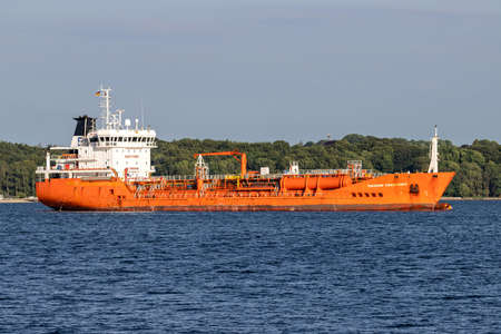 chemical tanker THEODOR ESSBERGER in the Kiel Fjord Editoriali