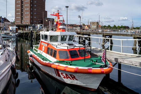 DGzRS SAR lifeboat ECKERNFÖRDE in the port of Eckernförde