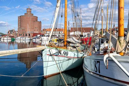 harbor of Eckernförde in Schleswig-Holstein, Germany Editorial