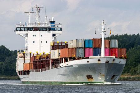 container ship EMILIA in the Kiel Canal