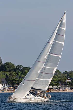 sailing boat in the Kiel Fjord Standard-Bild
