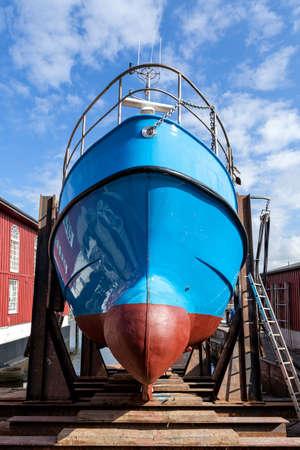 fishing vessel in dockyard for maintenance