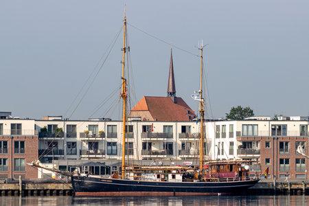 gaff ketch SEUTE DEERN in the port of Eckernförde