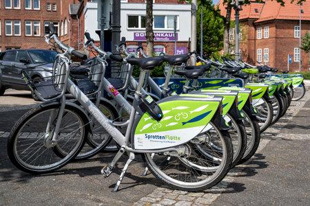 SprottenFlotte bikes at Eckernförde station Editorial