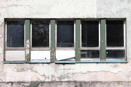 windows of an industrial ruin