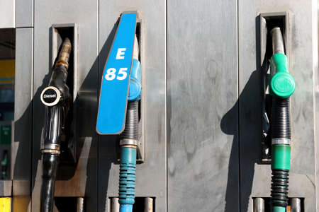 gas pump at fuel station