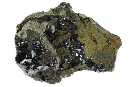magnetite from Potosi, Bolivia isolated on white background Standard-Bild