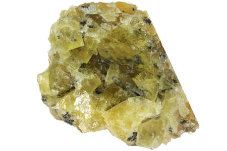 fluorite from Gloria Mine, Hornachuelos, Spain isolated on white background