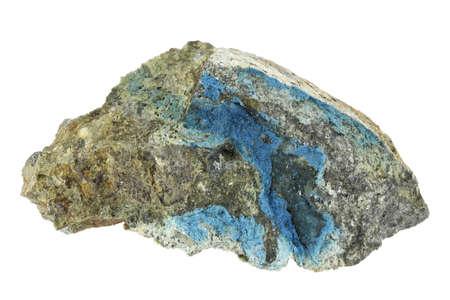aerinite from Lleida, Spain isolated on white background Standard-Bild