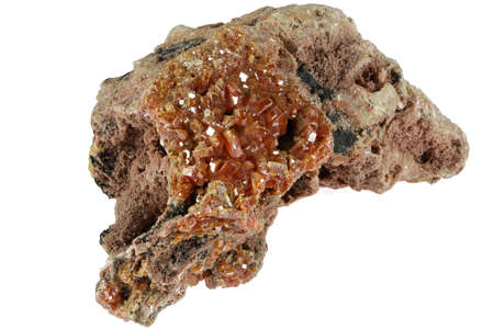 vanadinite from Morocco isolated on white background