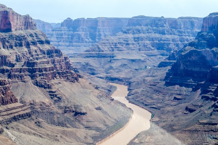 Grand Canyon, Helicopter view, Arizona photo