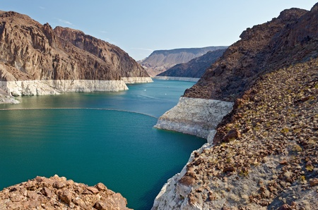 Colorado River at Hoover Dam, Nevada photo
