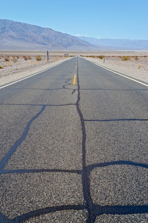 Desolated Road, Death Valley, California photo