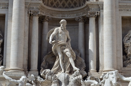 The statue of Neptune, part of the Trevi Fountain, Rome Stock Photo - 17119773