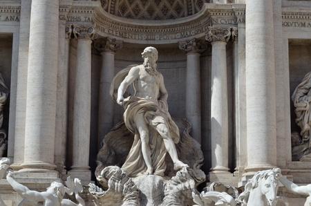 bernini: The statue of Neptune, part of the Trevi Fountain, Rome