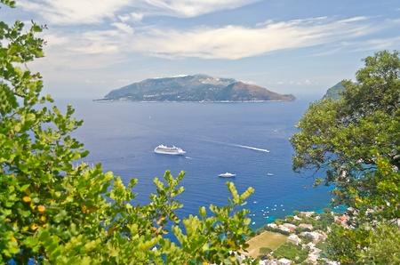 Sorrento Peninsula seen from Capri, Bay of Naples photo