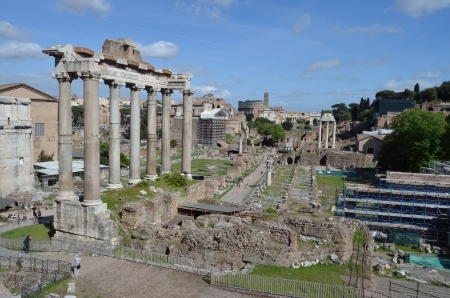 Ruins of the Roman Forum, Rome photo