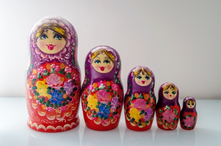 Traditional Russian Matrioska, vintage toy doll from Russian Culture photo