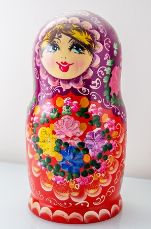 matriosca: Traditional Russian Matrioska, vintage toy doll from Russian Culture Stock Photo